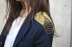 military jacket+GOLD