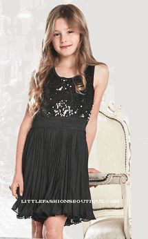 Elisa B By Lipstik Sparkly Gold Amp Black Tween Dress Sz 10