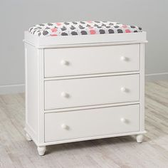 3-Drawer Jenny Lind White Changing Table | The Land of Nod