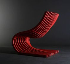 Guatemala based Piegatto design studio of Alejandro Estrada and Sandra de Estrada created this Double Section Chair from plywood. Funky Furniture, Design Furniture, Chair Design, Wood Furniture, Ball Chair, Contemporary Chairs, Sofa Chair, Modern Interior Design, Interiores Design