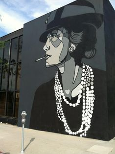 Street art by David Flores – Coco Chanel New Mural @ Los Angeles, USA Murals Street Art, 3d Street Art, Urban Street Art, Amazing Street Art, Street Art Graffiti, Street Artists, Urban Art, Amazing Art, Usa Street