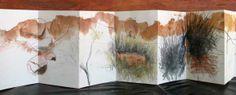 panaramic landscape concertina - http://www.larapintacreativecamps.com.au/newimages/CONCERTINA-BOOK-SUE-DALE-.jpg