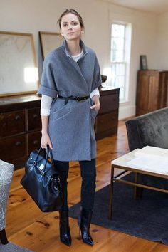 TOPPER COAT - GREY available fromEmerson Fry