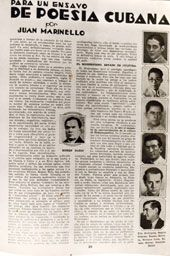 Juan Marinello.Sus poemas y artículos aparecían con frecuencia en las principales publicaciones del país
