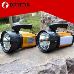 48.00$  Know more - http://aix6l.worlditems.win/all/product.php?id=32801436165 - LED Rechargeable Spotlights long light distance handheld spotlight for hunting searching lighting camping led lamp
