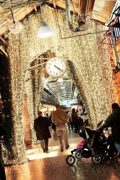 Chelsea Market is one of our favorite places to visit in New York City during the holidays. It's the perfect place to grab a bite, do some shopping and be inspired. New York Noel, Ville New York, A New York Minute, New York Christmas, Christmas Time, Cities, Empire State Of Mind, I Love Nyc, Destinations