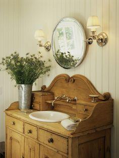 Применение старого комода в ванной