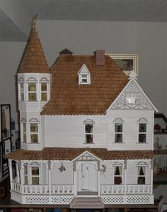 """""""The Barrington"""" dollhouse. Watch my other Pinterest board, """"My Dollhouse"""" to follow me put mine together!"""