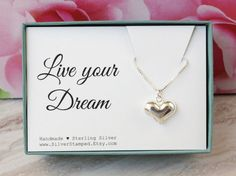 Live your dream Birthday gift for her by SilverStamped on Etsy