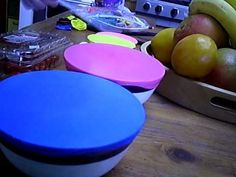 Balloon drums from pikemystik's YouTube channel.  You cut the open end off a balloon (the bit you blow into) and stretch the balloon over a container.  These sound great!
