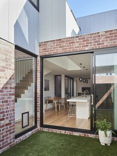 Local Australian Architecture And Interior Design Albert Park Terrace Designed By Dan Webster Architecture 1 - The Local Project Red Brick Exteriors, Brick Facade, House Cladding, Facade House, Exterior Cladding, Terrace House Exterior, Stucco Exterior, Exterior Signage, Exterior Paint