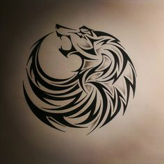 tribal wolf tattoo by dirtfinger.deviantart.com