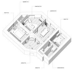 CENTURY on Behance Fresh Living Room, Living Room Green, Apartment Plans, Apartment Interior, Home Design Plans, Plan Design, Interior Presentation, Herringbone Wood Floor, Green Armchair