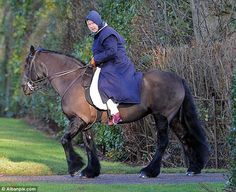 The Queen over 80 and still riding!