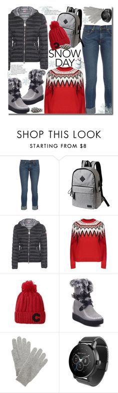 """Snow Day (casual)"" by beebeely-look ❤ liked on Polyvore featuring rag & bone, Colmar, White + Warren, casual, snow, winterfashion, wintersweater and gearbest"