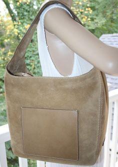 59971e62bfd9 NWT~Michael Kors Large Lena Suede Leather Hobo Large Shoulder Bag (Desert)