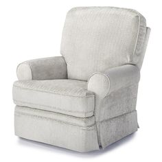 Style extends from the straight lines of the square back to the rounded, extra cushioned arms. Comfort is not sacrificed by style. With a hidden inside handle, this gem reclines to a full layout position. The semi-attached back is blown with high-loft premium cushioning fibers, while the seat utilizes a high-density foam cushion for maximum resiliency.