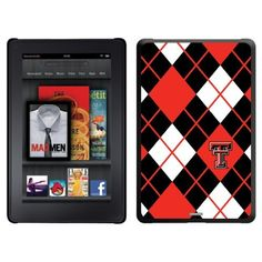Texas Tech Argyle design on a Black Thinshield Case for Amazon Kindle Fire by Coveroo. $39.95. This hard shell polycarbonate case offers a slim fit form factor, while covering the back and sides of your Kindle Fire