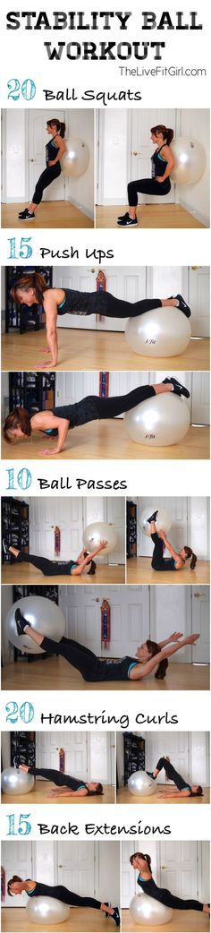 Stability Ball Workout | The Live Fit Girl