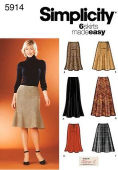 Quite possibly my favorite skirt pattern ever