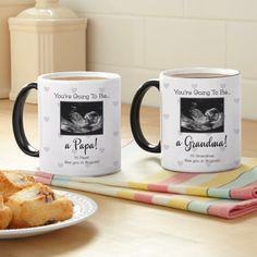Need a unique gift? Send Ultrasound Announcement Photo Mug and other personalized gifts at Personal Creations. Diy Gifts For Mom, Gifts For Family, Baby Gifts, Ideas Sorpresa, Cadeau Parents, Cute Pregnancy Announcement, Baby Announcements, Grandparent Gifts, Ultrasound