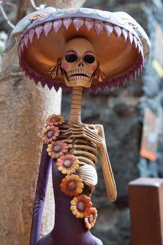 The ceramic genius of Mexico. A lilac Catrina.