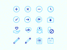 Medical Icon Set by Taylor Reiman