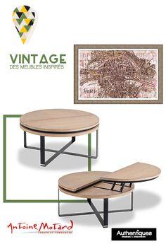 Idée déco - table basse bois et métal #décoration #tablebasse