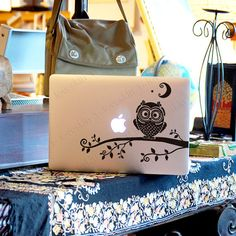 owl-Decal for Macbook Pro, Air or Ipad Stickers Macbook Decals Apple Decal for Macbook Pro / Macbook Air 1172 on Etsy, $10.99