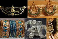 Go for heavy Jhumkas, chandlier earings team them up with traditional bangles and kamarbandh (waistband).