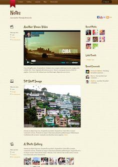 Notes WordPress Tumblr Like Blog Theme