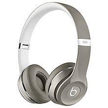 Beats Solo2 Luxe on-ear hodetelefoner (sølv)