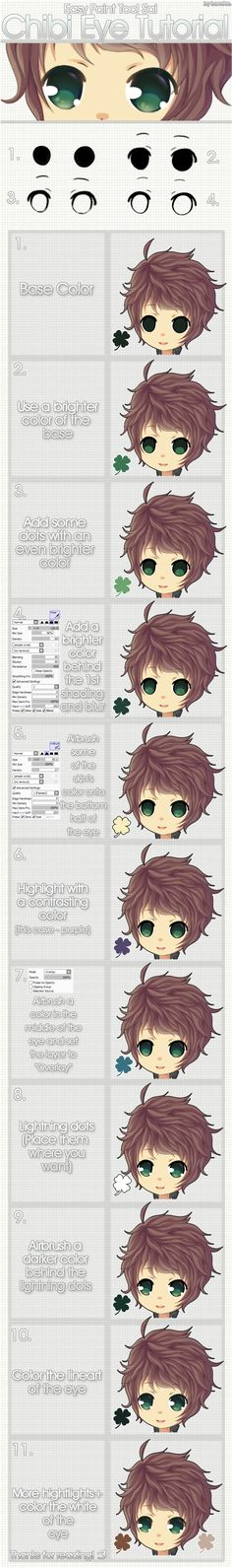 Chibi Eye Tutorial~ by Lanahx3.deviantart.com on @deviantART This gives me some coloring ideas too...