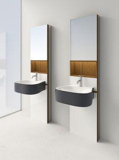 beautiful bathroom sinks Agape design in 10 immagini Black Bathroom Sets, Single Bathroom Vanity, Bathroom Sinks, Washroom, Geberit Monolith, Lavabo Design, Wall Mounted Basins, Design Apartment, Studio Furniture
