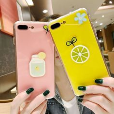 For iPhone 7 Plus Case Korean Fashion Glossy Candy Duck Flower Lemon Back Cover For iPhone 6 6S Plus 7 Plus Soft TPU Phone Case Price: US $9.95 & FREE Shipping #iphone7plus,