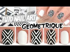 Nail art facile ♡ Géométrique - YouTube