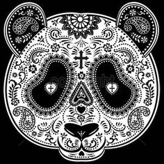 Day Of The Dead Panda Sugar Skull Bear Animal T-Shirt Tee | eBay