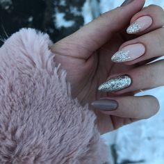 Cute Acrylic Nails, Cute Nails, Pretty Nails, Girls Nails, Neutral Nails, Beautiful Nail Designs, Nail Manicure, Winter Nails, Skin Makeup