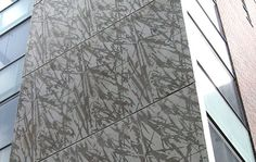 Graphic Concrete: GCCollection Nature Collection, grass pattern, custom printing on concrete surface