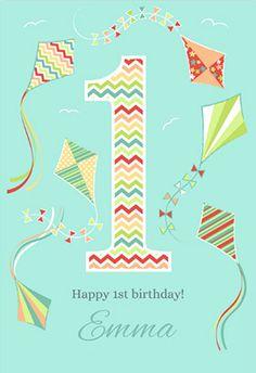 Fun 1st Birthday Printable Card Customize Add Text And Photos Print