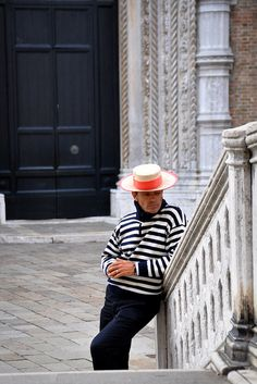Gondolier deep in thought