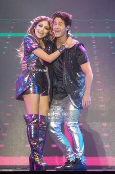 Karol Sevilla performs on stage during Disney show Soy Luna at Palacio de los Deportes on January 7, 2018 in Madrid, Spain