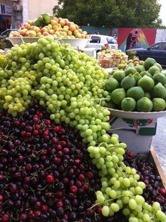 from Palestine…. yeah… there are no cherries raised in the WB.  But all that other fruit there… it's all from Palestinian homes.