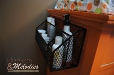 DIY Change Table Storage | Mudpies and Melodies