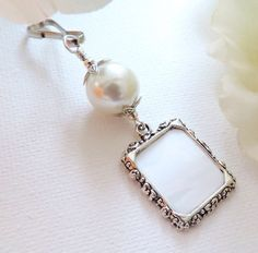 Blue Pearl, Pearl Color, Pearl White, Ivory Pearl, Wedding Bouquet Charms, Wedding Bouquets, Small Picture Frames, Photo Charms, Star Wedding