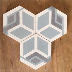 Modèle Joséphine de la Maison BAHYA, carreaux de ciment fabriqués à la demande, à personnaliser avec nos 72 couleurs. #carreauxdeciment #cementtiles #tailormade #handmade