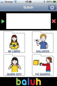 LAS TIC Y LA DISCAPACIDAD: Baluh, una aplicación para Iphone/Ipad que ayuda a comunicarse con pictogramas
