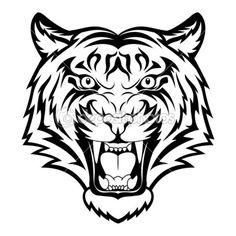 Tiger face — Stock Vector #15658407 More