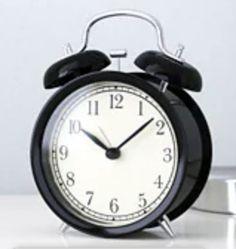 No disturbing ticking sounds since the clock has a silent quartz movement. Alarm Clock, Ikea, Desk, Glass, Projection Alarm Clock, Desktop, Ikea Co, Drinkware, Table Desk