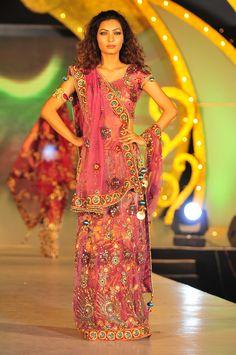 Pink Net Shimmer Velvet Chaniya Choli 4652 $245.61